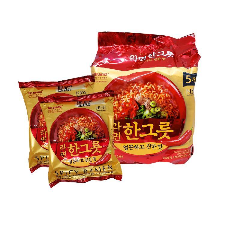 韓國NoBrand韓式大醬辣牛肉拉麵 (1包5入)  有效期限2020.11.11