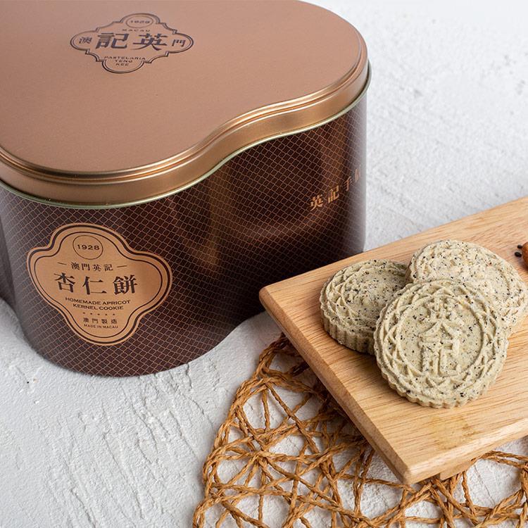 【英記餅家】黑芝麻杏仁餅24入鐵罐(精裝禮盒) 2盒組