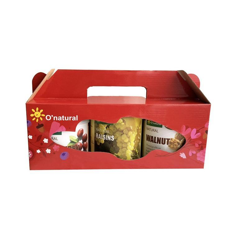【歐納丘O'natural】喜樂禮盒(葡萄乾**1、蔓越莓乾**1、核桃**1)