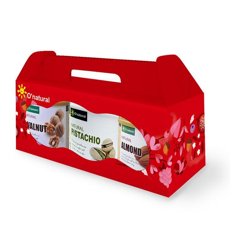 【歐納丘O'natural】歐納丘養生堅果禮盒_2盒組(核桃**1、原味杏仁果**1、開心果**1)