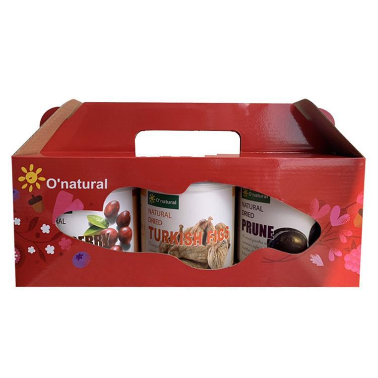 【歐納丘O'natural】綜合果乾禮盒(無花果乾**1、蔓越莓乾**1、黑棗乾**1)