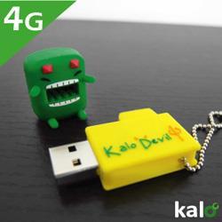Kalo卡樂創意 Flash Drive-4G(綠黃瓜惡魔)