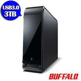BUFFALO LX系列7200轉 USB3.0 3.5吋3TB隨身硬碟_黑