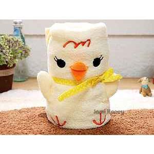 日本Chick點點古錐黃雞可捲曲收納毯