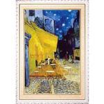 梵谷Vincent~星空咖啡館~白框加大W0097