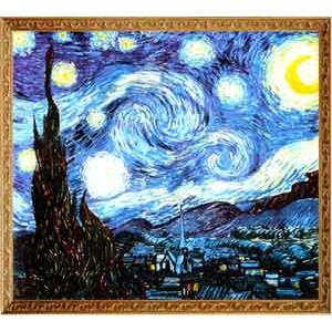 S0219梵谷Vincent「星空Starry night」