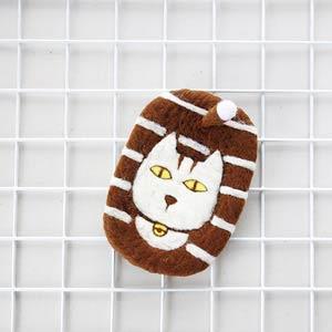 羊毛氈手創館【小幫手系列】超可愛‧清潔棉-貓咪