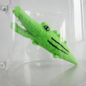 羊毛氈手創館【小幫手系列】超可愛‧清潔刷-鱷魚先生