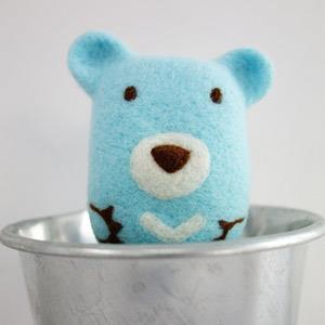 羊毛氈手創館【小幫手系列】洗香香‧沐浴球-小熊