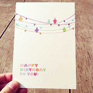 《KerKerland》小鳥在五線譜上,為你譜一曲生日快樂歌/明信片