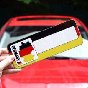 【國旗商品創意館】德國造型可複寫留言停車牌/Germany/賓士/BMW/福斯