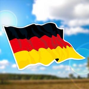 【國旗商品創意館】德國旗飄揚抗UV、防水貼紙2入/Germany/多國款式可選購