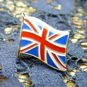【國旗商品創意館】英國UK徽章4入組/胸章/別針