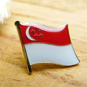 【國旗商品創意館】新加坡Singapore徽章4入組/胸章/別針