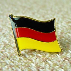 【國旗商品創意館】德國Germany徽章4入組/胸章/別針