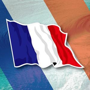 【國旗商品創意館】法國旗飄揚抗UV、防水貼紙2入/France/多國款式可選購