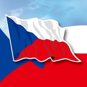 【國旗商品創意館】捷克國旗飄揚抗UV、防水貼紙2入/Czech/多國款式可選購