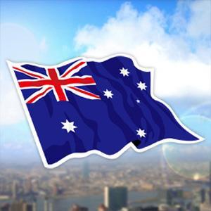 【國旗商品創意館】澳洲國旗飄揚抗UV、防水貼紙2入/Australia/澳大利亞