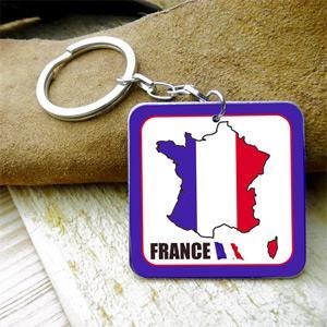 【國旗商品創意館】法國造型鑰匙圈/France/多國款式可選購