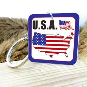 【國旗商品創意館】美國造型鑰匙圈/USA/多國款式可選購