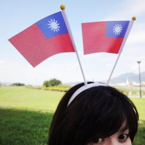 【國旗商品創意館】國旗髮箍(白)/頭戴式旗幟/Taiwan/台灣/中華民國
