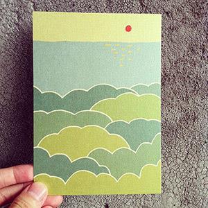 《KerKerland》暖紅太陽,與那一片,遠方的海/明信片
