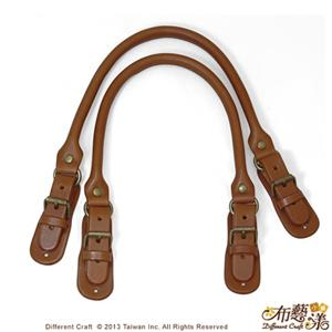 【布藝漾小舖】純手工頂級牛皮帶扣包心提把 38cm