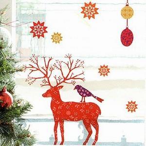 【巴黎無膠創意貼飾】繽紛可愛糜鹿The deer-HOWI003