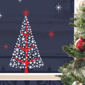 【巴黎無膠創意貼飾】星星聖誕樹StarsChristmasTreeHOWI044