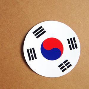 【國旗商品創意館】南韓國旗圓形抗UV、防水貼紙/S.Korea/世界多國款可選購