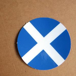 【國旗商品創意館】蘇格蘭旗圓形抗UV、防水貼紙/Scotland/世界多國款可選