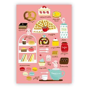 Smohouse [PoCa] 插畫明信片:楊小姐的甜點手記