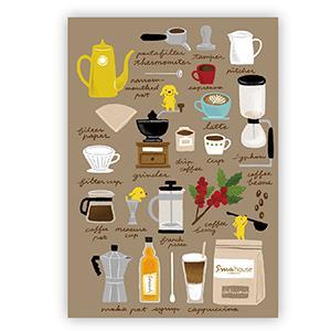 Smohouse [PoCa] 插畫明信片:狗店長咖啡手記