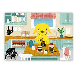 Smohouse [PoCa] 插畫明信片:狗店長品咖啡