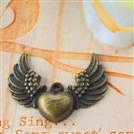 心自由飛翔古銅色配件‧輕靈之森手工療癒系
