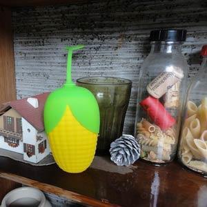 Kalo 卡樂創意 玉米造型矽膠鑰匙包 (黃玉米)