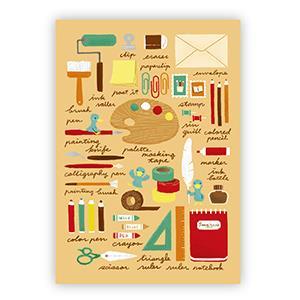 Smohouse [PoCa] 插畫明信片:東山的文具手記