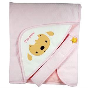 優生 棉羊素色造型包巾-粉紅