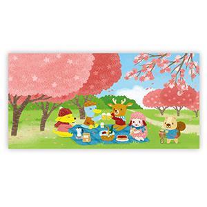 Smohouse [PoCa] 插畫明信片:櫻花野餐日