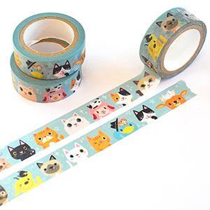 Smohouse和紙膠帶:貓咪派對