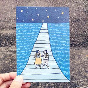 《KerKerland》一起去看星星吧/明信片