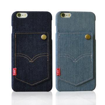 【Kalo卡樂創意】iPhone 6  plus 個性丹寧卡片口袋保護殼 5.5吋
