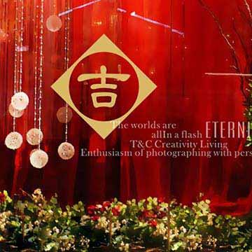 Christine新年節慶佈置/春聯貼/玻璃貼/NC024 吉