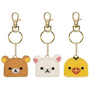 San-X Rilakkuma拉拉熊臉型精美皮製鑰匙圈。3種可選