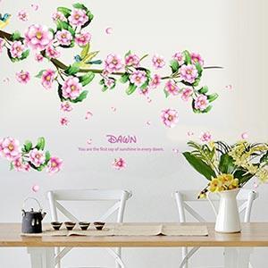 Christine創意組合DIY壁貼/牆貼/兒童教室佈置(可重複貼) 詩意桃花