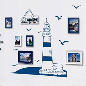 Christine創意組合DIY壁貼/牆貼/兒童教室佈置(可重複貼) 地中海燈塔