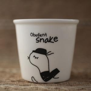 【品生活道具屋】乖乖蛇陶器布丁杯