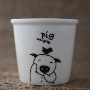 【品生活道具屋】豬豬陶器布丁杯