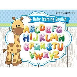 Christine寶貝學習牆貼/ABC學習/卡通牆貼(大) TEC011 可圈選 淘氣長頸鹿