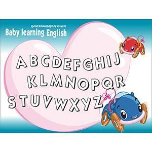 Christine寶貝學習牆貼/ABC學習/卡通牆貼(大) TEC013 可填色 賽車寶貝